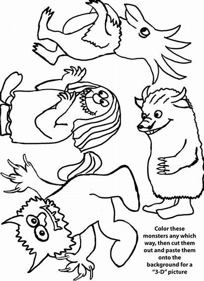 Wild Things Coloring Pages Printable Crafts Stuff
