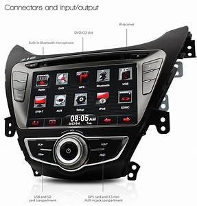 8 U0026quot  Car Gps Dvd Player For Hyundai Elantra Md Stereo Radio