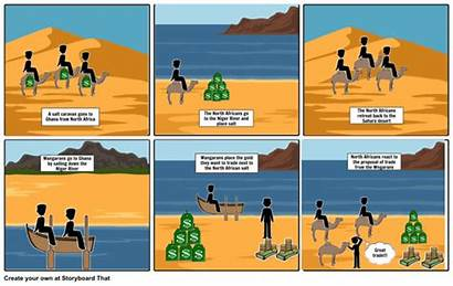 Ghana Salt Gold Comic Timeline Strip Trading