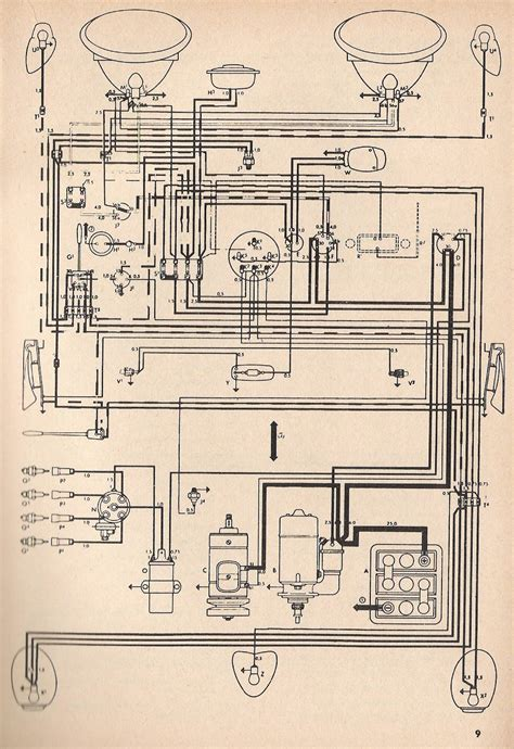 Volkswagen Wiring For 1969 by 1971 Beetle Wiring Diagram Thegoldenbug App Co