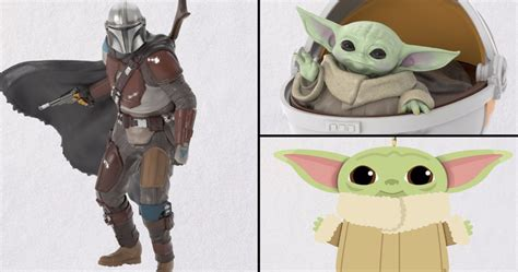 The Mandalorian and Baby Yoda Christmas Ornaments Unveiled ...