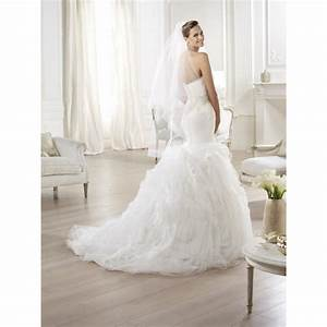 pronovias oita feather dress 2014 collection sample gown With sample wedding dresses