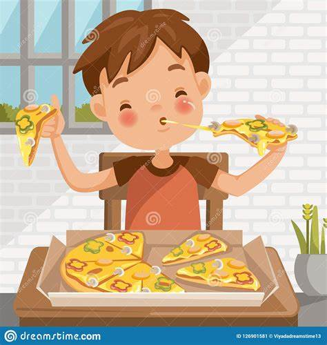 But despite watching them frequently suddenly, some luscious food appears from nowhere and it looks so real and so delicious you can. Cartoon Boy Eating In The Dining Room | CartoonDealer.com ...