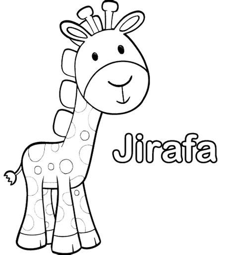 dibujos para imprimir y colorear jirafa para colorear