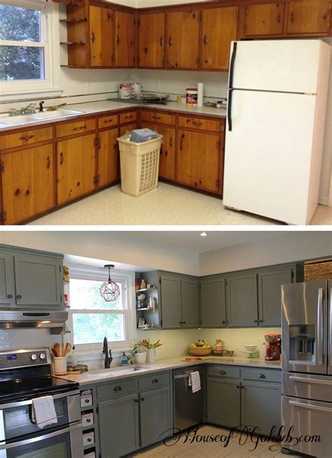 before and after kitchen cabinet painting before after houseofgold kitchen kitchens 9086
