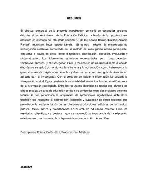 Un Resumen De Trabajo by Equipo 5 Resumen Trabajo De Grado