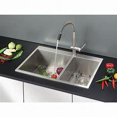 "Ruvati Tirana 33"" X 22"" Dropin Double Bowl Kitchen Sink"