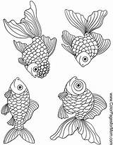 Coloring Ocean Pages Fish Adult Sea Printable Colouring Adults Seascape Patterns Colorpagesformom Animals Sheets Drawing Goldfish Magic Books 塗り絵 Stencil sketch template