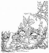Coloring Tea Adult Fairy Psalm Sheets Woodland Horse Flickr Acts Verse Template sketch template