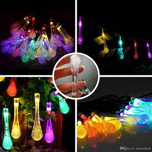 solar string light20ft 30 led rain drop waterproof With outdoor string lights in rain