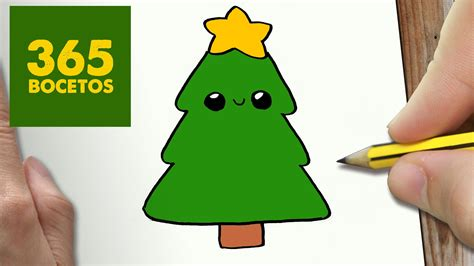 como dibujar un arbol para navidad paso a paso dibujos