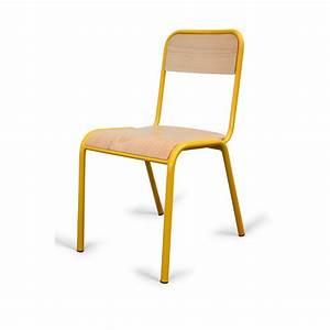 Chaise D école : chaise d 39 cole en bois et m tal chaise d 39 colier empilable chaise d 39 colier en h tre ~ Teatrodelosmanantiales.com Idées de Décoration