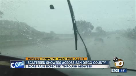 scattered showers across san diego county