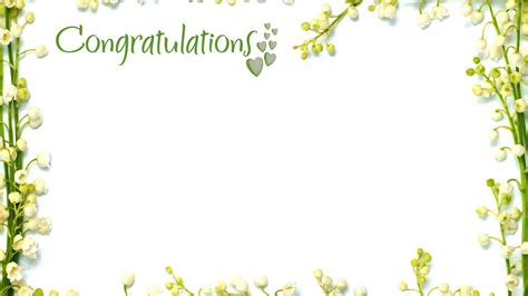 Border Picture Hd by Congratulations Picture Frames With Green Floral Border