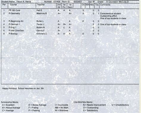 everyday moments   life high school report card