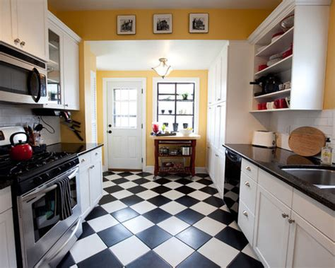 black white kitchen tile home design ideas pictures