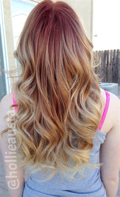 strawberry blonde ombre hair  beauty pinterest