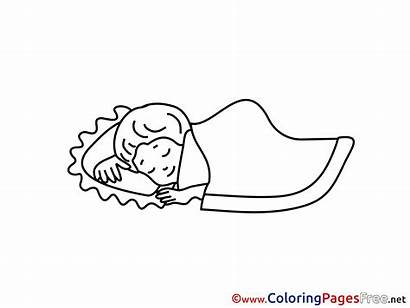 Coloring Sleep Pages Kind Clipart Schlafendes Sheet