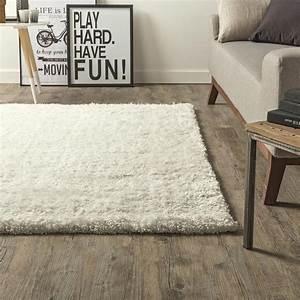 tapis ecru shaggy stylus l120 x l170 cm leroy merlin With tapis shaggy avec canapé en suédine