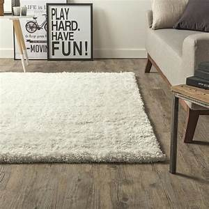 tapis ecru shaggy stylus l120 x l170 cm leroy merlin With tapis shaggy avec canape ecru