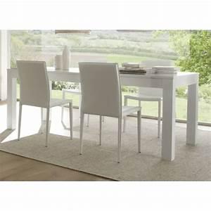 Table Salle A Manger Blanche : table de salle manger laqu e blanche simba matelpro ~ Teatrodelosmanantiales.com Idées de Décoration
