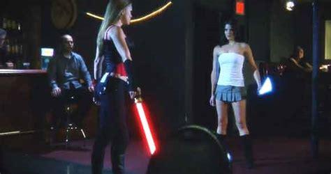 star wars light saber duel spoof lynx commercial cool