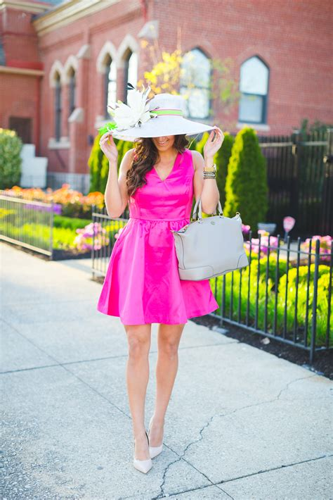 Pink Fit and Flare Dress | A Southern Drawl