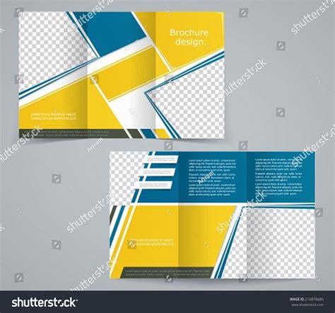 Yellow Brochure Design Vector Millions Vectors Tri Fold Business Brochure Template Vector Yellow Blue