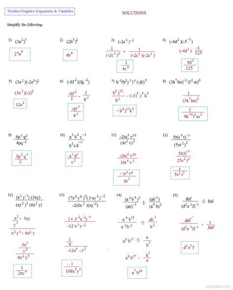 math plane simplifying negative exponents  variables