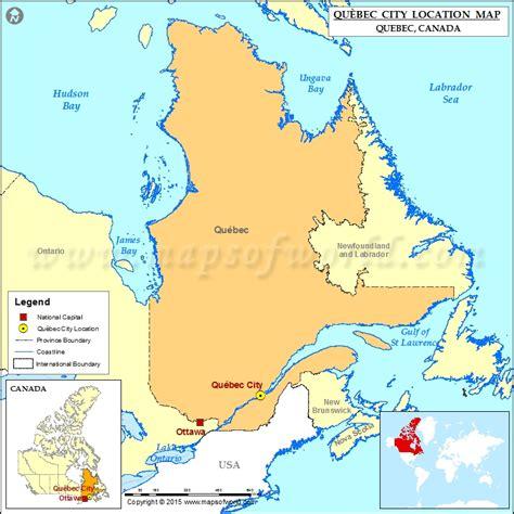 quebec city located  canada map