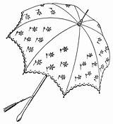 Clip Umbrella Clipart Parasol Graphics Outline Embroidery Parasols Printable Illustration Drawing Domain Pretty Coloring Olddesignshop Umbrellas Victorian Sketch Library Patterns sketch template