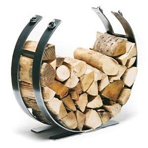 contemporary log basket log holder fire side accessory