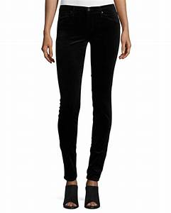 AG The Legging Velvet Skinny Jeans Black