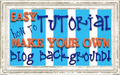 How To Make Your Own Background វ ធ បង ក ត Own Background Updated October 2012