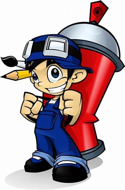 Paint Boy Mascot Cartoon Graphic Project Graffiti