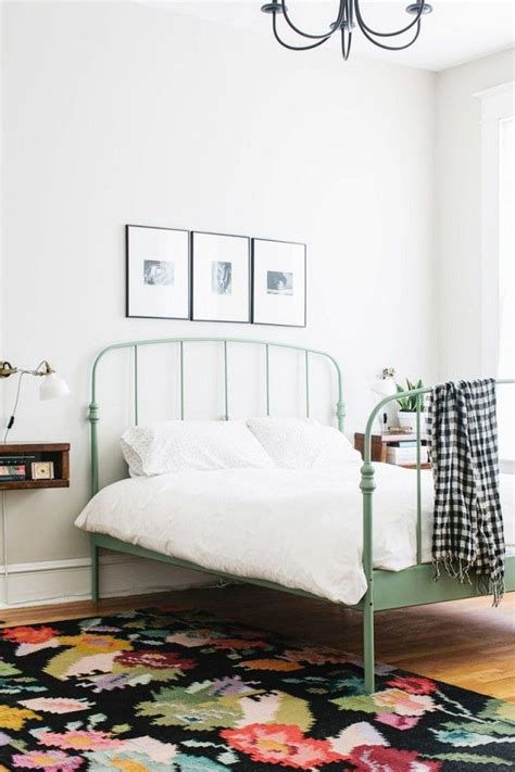 metal bed frame queen ideas  pinterest ikea