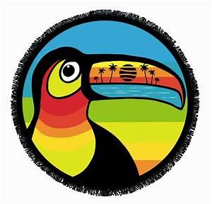 Grande Serviette De Plage Ronde : serviette ronde velour toucan ~ Teatrodelosmanantiales.com Idées de Décoration