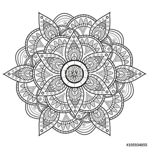 hollow glass l quot black and white mandala vector mandala in bianco e nero