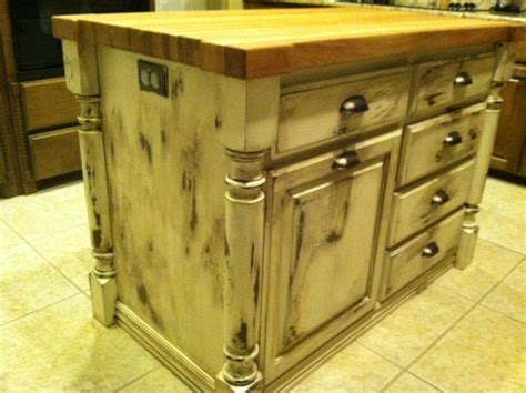 distressed island kitchen before and after of distressed pine kitchen island 3375
