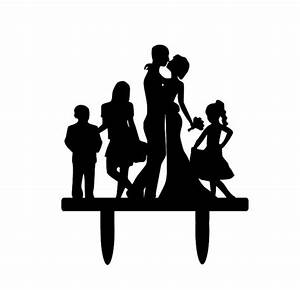 Silhouette Dancing Bride and Groom Wedding Cake by ...