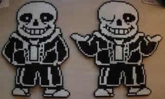 Undertale Sans Battle Sprite Perler Beads