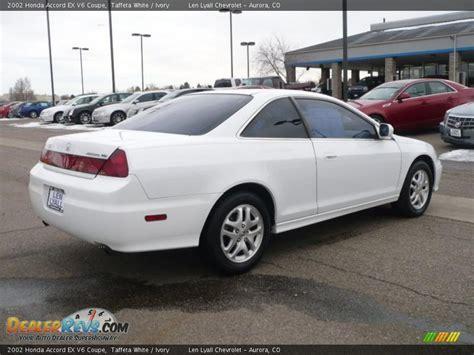 2002 Honda Accord Ex V6 Coupe Taffeta White / Ivory Photo