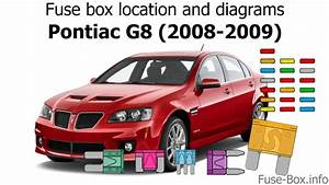 Fuse Box Location And Diagrams  Pontiac G8  2008