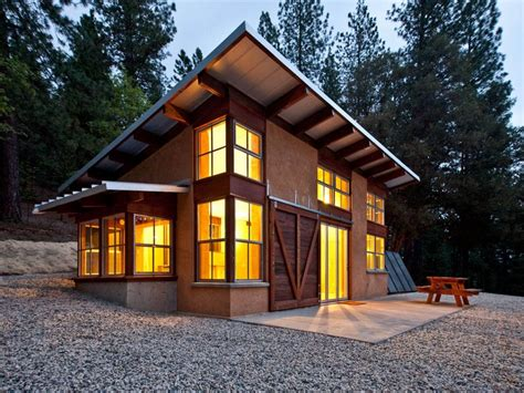 Shed Roof House Designs Modern Cabin With Loft : MODERN