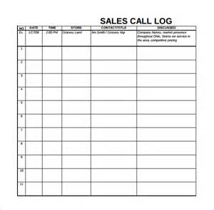 Business Fact Sheet Template Sle Sales Log Template 6 Free Documents In Pdf Excel