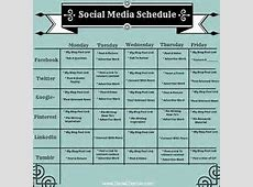 Social Media Calendar Template for Small Business Social