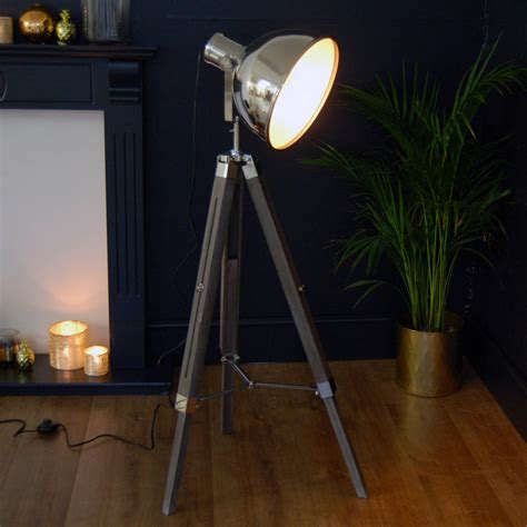 searchlight lamp tripod tall industrial floor light
