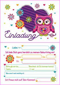 kindergeburtstag 12 jahre 12 einladungskarten kindergeburtstag eule einladungen geburtstag f 252 r m 228 dchen ebay
