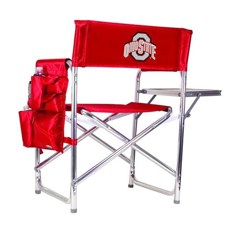 picnic time ohio state sports chair with