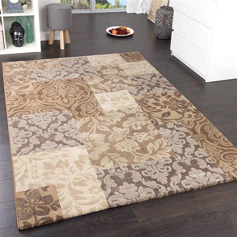 tapis carreaux baroque marron tapis
